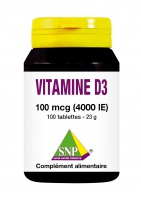 Vitamine D3 100 mcg 4000 IE 100 tablettes