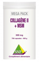 Collagène II + MSM  Pur 750 capsules-550 mg  MEGA PACK