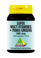 Super Multi Vitamines + Panax Ginseng  - 120 Caps -
